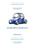 Bài tập lý thuyết ô tô: Tính toán động lực học ô tô