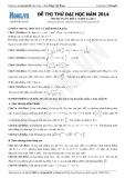 Đề thi thử Đại học môn Toán khối A, A1 năm 2014 - Thầy Đặng Việt Hùng (Lần 1-4)