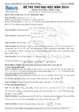 Đề thi thử Đại học môn Toán khối A, A1 năm 2014 - Thầy Đặng Việt Hùng (Lần 5-8)
