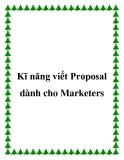 Kĩ năng viết Proposal dành cho Marketers