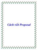 Cách viết Proposal