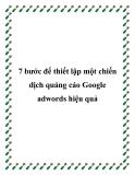 7 bước để thiết lập một chiến dịch quảng cáo Google adwords hiệu quả