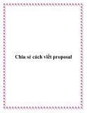 Chia sẻ cách viết proposal