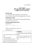 Bài 34: Vẽ tranh hoạt động trong những ngày nghỉ hè - Giáo án Mỹ thuật 7 - GV.N.Văn Chung