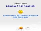 Bài giảng Lịch sử 10 bài 8: Sự hình thành và phát triển các vương quốc chính ở Đông Nam Á