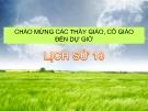 Bài giảng Lịch sử 10 bài 28: Truyền thống yêu nước của dân tộc Việt Nam thời phong kiến