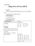 Giáo án Toán 3 chương 1 bài 2:  Cộng, trừ các số có 3 chữ số (không nhớ)
