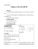 Giáo án Toán 3 chương 1 bài 3: Cộng các số có ba chữ số (có nhớ 1 lần)