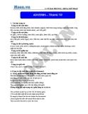 Chuyên đề ôn thi Đại học môn Anh: Adverbs (trạng từ) - Cô Vũ Thu Phương
