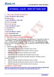 Chuyên đề ôn thi Đại học môn Anh: Adverbial clause - Mệnh đề trạng ngữ (Cô Vũ Thu Phương)