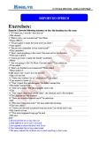 Chuyên đề ôn thi Đại học môn Anh: Reported speech (Exercises) - Cô Vũ Thu Phương