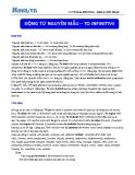 Chuyên đề ôn thi Đại học môn Anh: Động từ nguyên mẫu – To infinitive (Cô Vũ Thu Phương)