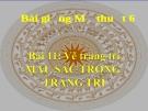 Bài giảng Màu sắc trong trang trí - Mỹ thuật 6 - GV.N.Hồng Nhung