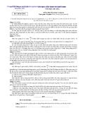 Đề thi tuyển sinh lớp 10 môn Hóa (chuyên) năm 2011 - Sở GD&ĐT tỉnh Phú Yên