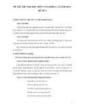 Đề thi thử Đại học môn Văn khối C, D năm 2014 - Sở GD&ĐT tỉnh Phú Yên (Đề số 2)