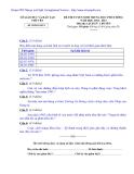 Đề thi tuyển sinh lớp 10 môn Sử (chuyên) năm 2010 - Sở GD&ĐT tỉnh Phú Yên