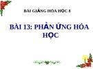 Bài giảng Phản ứng hóa học - Hóa 8 - GV.N Nam