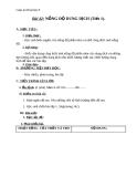 Giáo án bài Nồng độ dung dịch - Hóa 8 - GV.N Nam