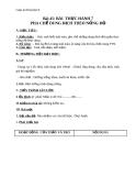Giáo án bài Bài thực hành 7 Pha chế dung dịch theo nồng độ - Hóa 8 - GV.N Nam