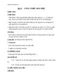 Giáo án bài Công thức hóa học - Hóa 8 - GV.N Nam