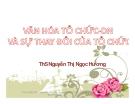 Bài giảng Văn hóa tổ chức - doanh nghiệp và sự thay đổi của tổ chức ( TS Nguyễn Thị Ngọc Hương)