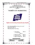 Tiểu luận: Nghiên cứu thị trường thương hiệu giày dép BQ