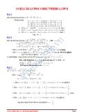 Đại số lớp 9: Tuyển tập 19 bài tập Giải phương trình