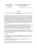 Chỉ thị 05/2013/CT-UBND