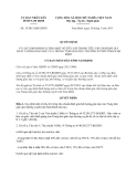 Quyết định số: 15/2013/QĐ-UBND quy định tiêu chí trong tiêu chuẩn đánh giá chất lượng giáo dục của trung tâm giáo dục thường xuyên tỉnh Nam Định