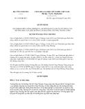 Quyết định số: 2788/QĐ-BCT
