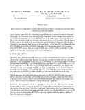 Thông báo 205/TB-VPCP