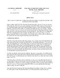 Thông báo 204/TB-VPCP