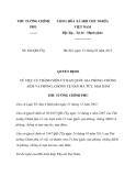 Quyết định số 842/QĐ-TTg về việc phòng, chống AIDS và phòng, chống tệ nạn ma túy, mại dâm