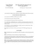 Quyết định 918/2013/QĐ-UBND