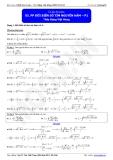 Luyện thi Đại học Toán chuyên đề: Phương pháp đổi biến số tìm nguyên hàm - Thầy Đặng Việt Hùng
