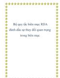 Bộ quy tắc biên mục RDA đánh dấu sự thay đổi quan trọng trong biên mục