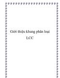 Giới thiệu khung phân loại LCC
