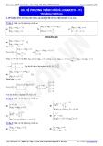 Luyện thi Đại học Toán chuyên đề: Hệ phương trình mũ và Logarit - Thầy Đặng Việt Hùng