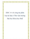 DDC 14 với công tác phân loại tài liệu ở Thư viện trường Đại học Khoa học Huế
