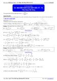 Luyện thi Đại học Toán chuyên đề: Nguyên hàm của hàm hữu tỉ - Thầy Đặng Việt Hùng
