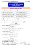 Luyện thi Đại học Toán chuyên đề: Phương pháp vi phân tìm nguyên hàm - Thầy Đặng Việt Hùng