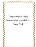 Tăng cường hoạt động thông tin phục vụ du lịch tại Quảng Ninh