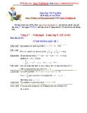Đề thi Violympic môn Toán lớp 9 - Vòng 17