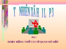 Slide bài Hoạt động thở và cơ quan hô hấp - Tự Nhiên Xã Hội 3 - GV.H.T.Minh