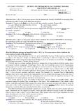 Đề thi thử Đại học môn Tiếng Anh khối D, A1 năm 2014 - Vĩnh Phúc (161)
