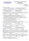 Đề thi thử Đại học môn Sinh khối B năm 2014 - Hải Dương