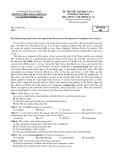 Đề thi thử Đại học môn Tiếng Anh khối D, A1 năm 2014 - Hải Dương