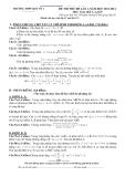 Đề thi thử Đại học môn Toán khối B năm 2014 -THPT Quế Võ