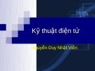Bài giảng Kỹ thuật điện tử ( Nguyễn Duy Nhật Viễn) - Chương 3 BJT và ứng dụng