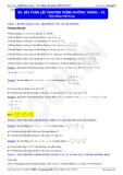 Luyện thi Đại học môn Toán: Bài toán lập phương trình đường thẳng - Thầy Đặng Việt Hùng